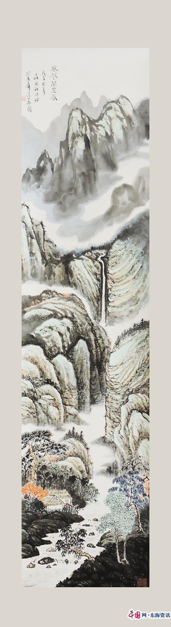 著名书画家华拓评庄希祖山水画(组图)