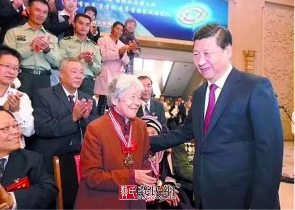 龚巧玉等宗亲到江西拜访开国将军甘祖昌夫人龚全珍